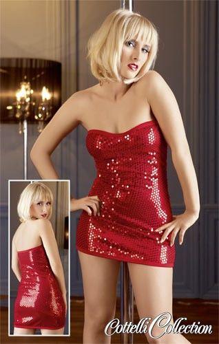 Sexy červené šaty